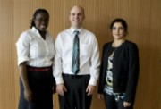 Three winners of the 2013 3 Minute Thesis Competition