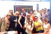 FGPA staff wearing red sunglasses