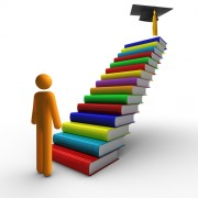 Orientation-stairs of books