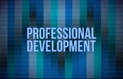 "the words ""Professional Development"" on a blue background"