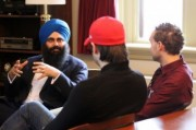 Religion & Public Life students meet with Minister Uppal