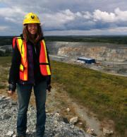 Sarah Davey at a mine near Matheson, Ontario