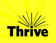 "yellow with ""Thrive"" text"
