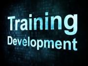 "Sign saying ""Training & Development"""