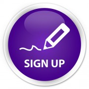 "purple butoon with ""sign up"""