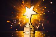 beaming gold star