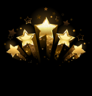 shooting gold stars