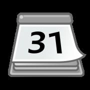 desktop calendar with the date 31 on it