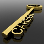 "golden key with word ""career"" on it"