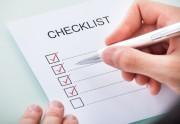 someone checking off a checklist