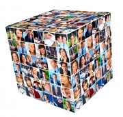 cube of peoples' faces