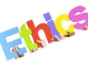 "the word ""ethics"" in colourful letters"