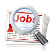 """The word """"job"""" highlighted under a magnifying glass"""