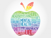 apple-text inside talks about mental health