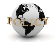 """""""policy"""" written over a globe"""