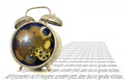 stress image with clock