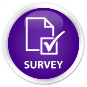 """round button with word """"survey"""""""