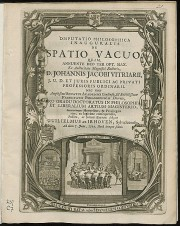 Poster from 1721 PhD Ceremony at Leiden University
