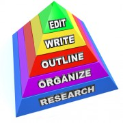 Pyramid on organizing your thesis