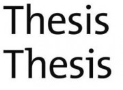 """text says """"thesis,thesis"""""""