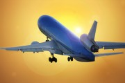 travel - plane flying