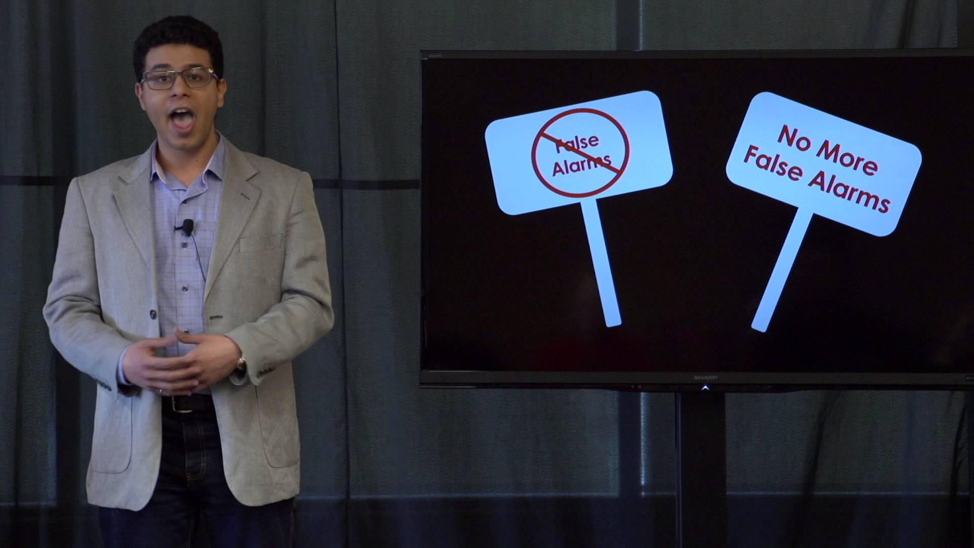 3MT Participant Mohamed Abdelazez on false alarms