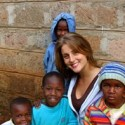 Kristina Partsinevelos in Kenya