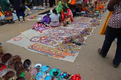Women with tapestries in Kenya