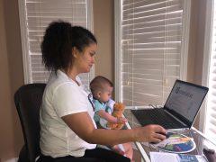 Angela Garcia and son