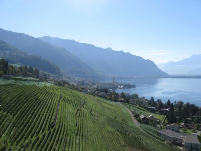 Montreux, Switzerland with the Alps in the background