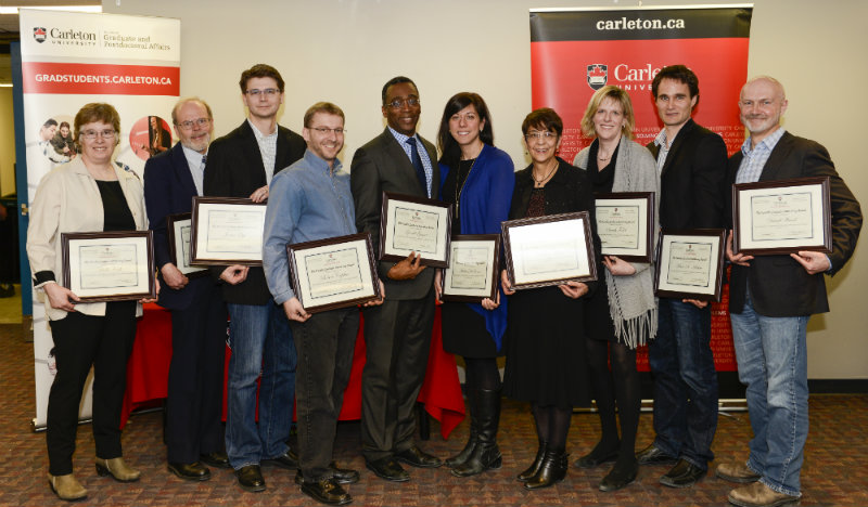 Faculty Graduate Mentoring Award Winners 2015