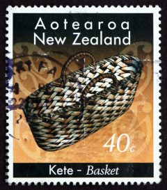 Maori stamp featuring a woven basket