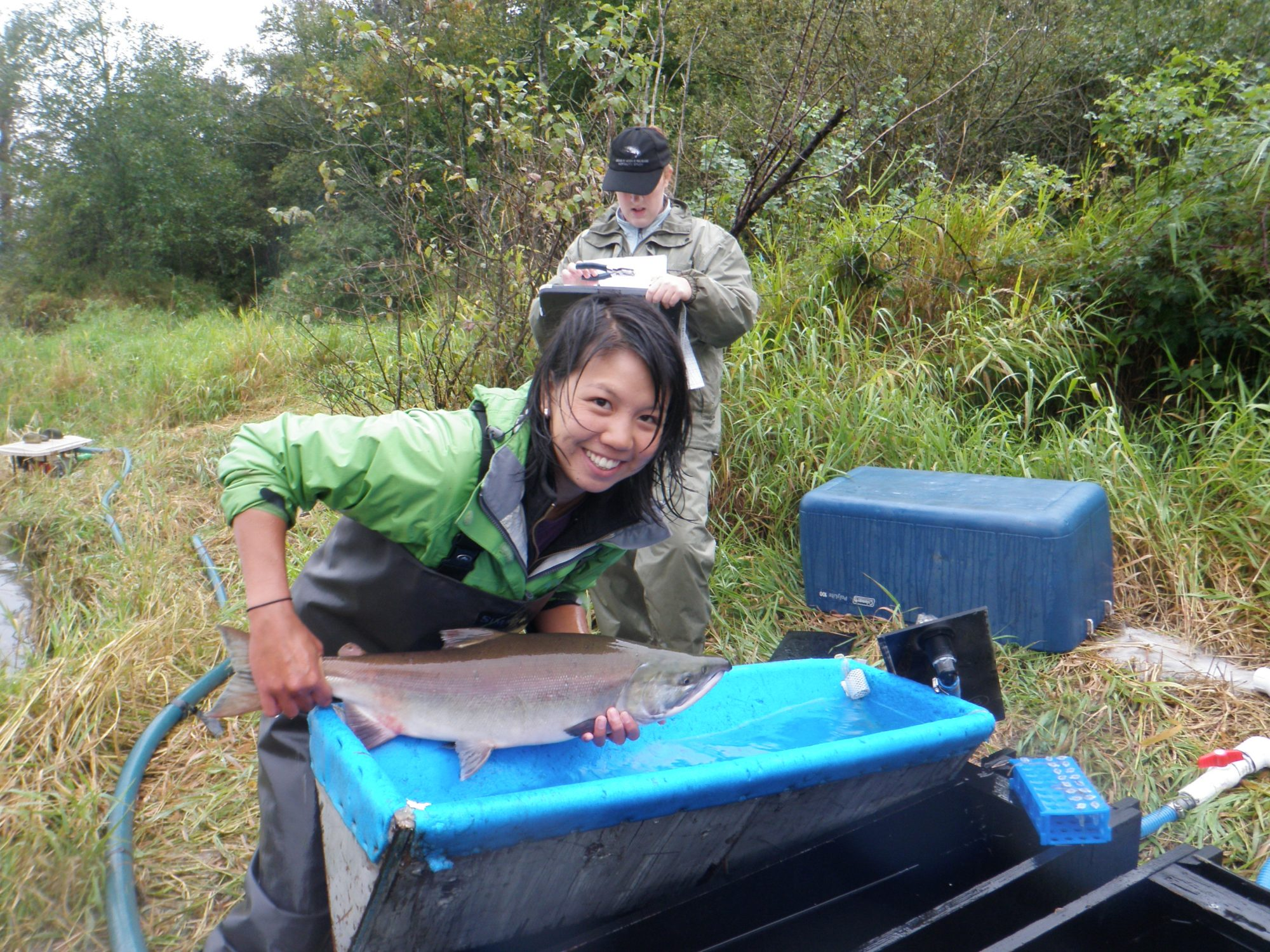 Vivian Nguyen conducting research in B.C.
