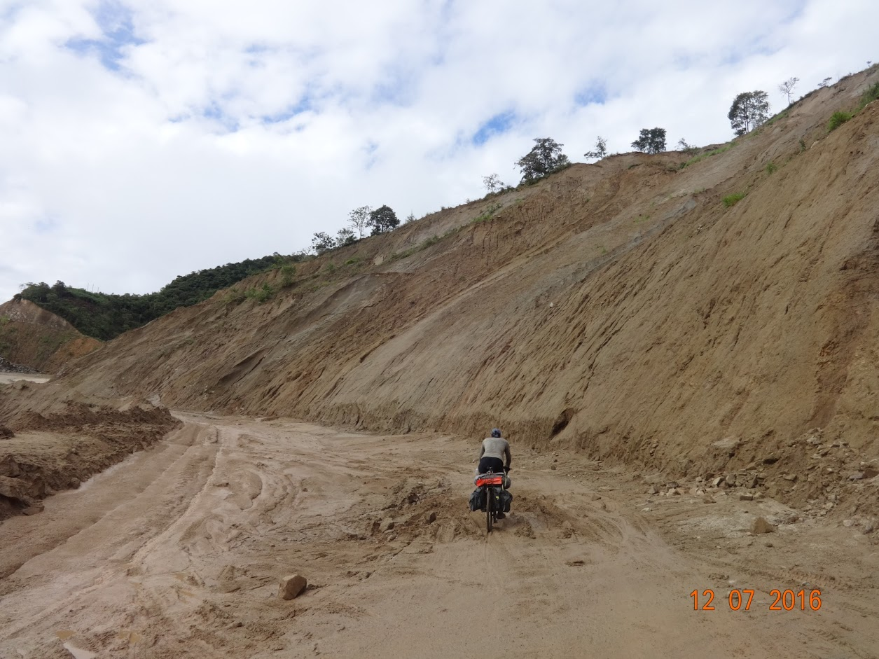 Cycling uphill through deep sand