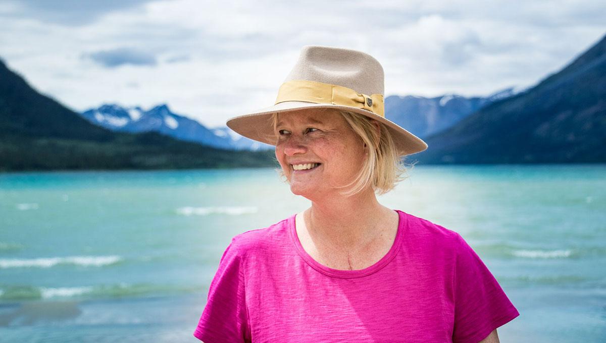 Kanina Holmes at Bennett Lake
