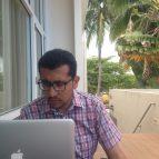 Vladimiar at his computer