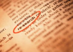 The word research in the dictionary