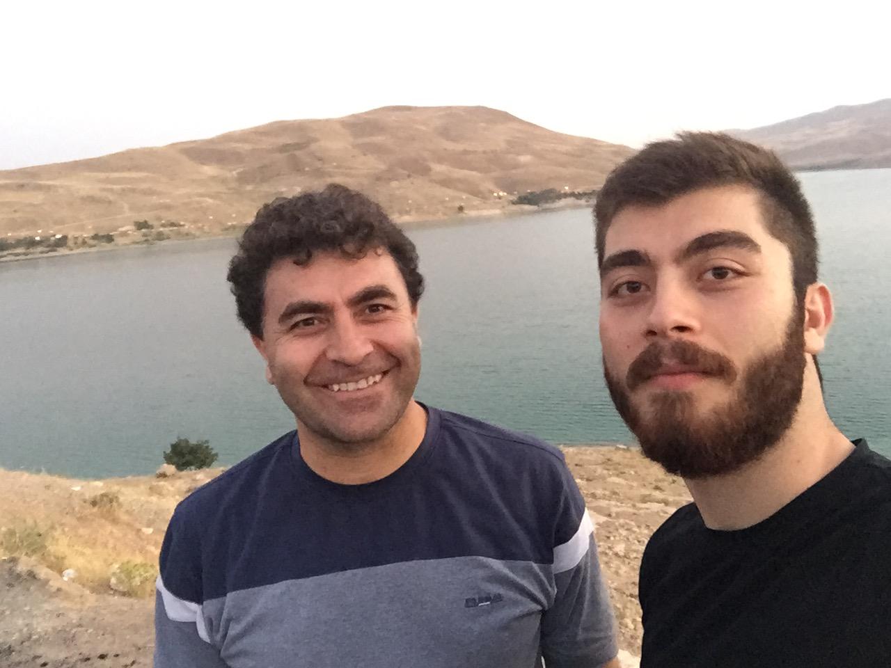Sanyar and father Ahmad