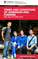 Terms and Conditions of Admission and Funding